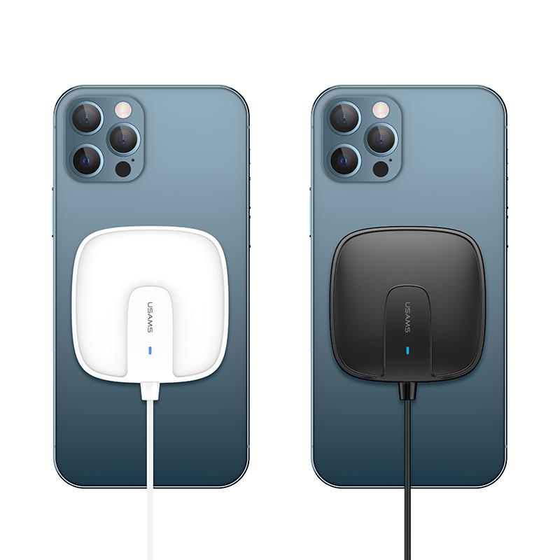 US-CD159 W1 苹果超薄磁吸无线快充充电器带线款