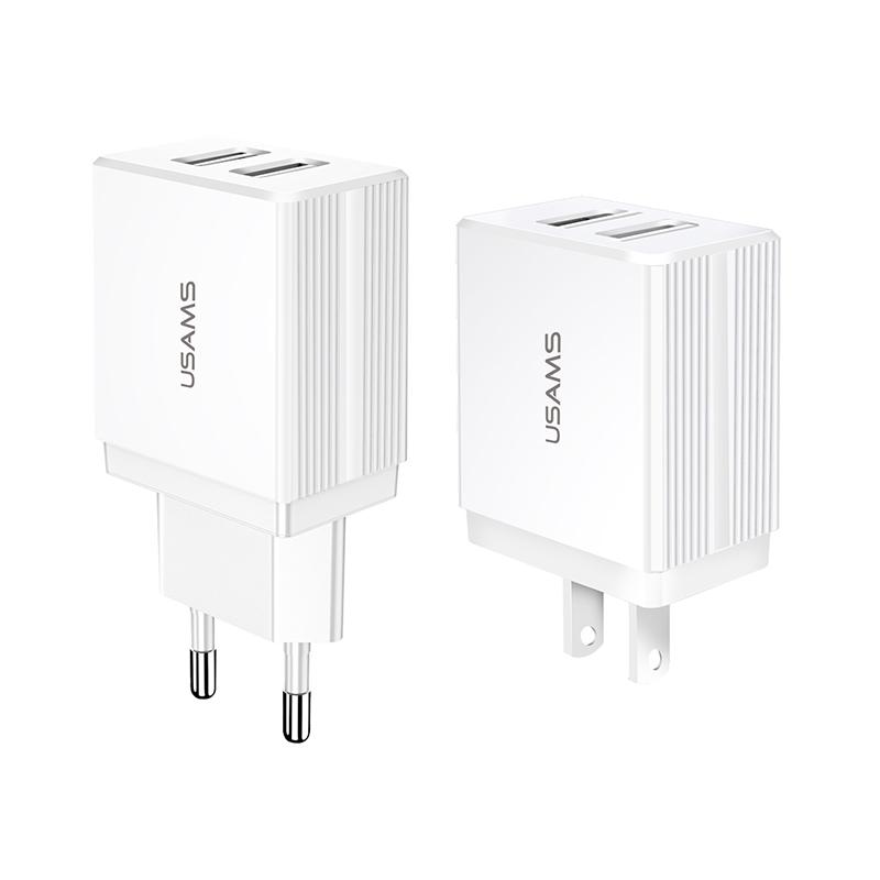 US-CC089/US-CC090 T24 2.1A Dual USB Travel Charger (US/EU)