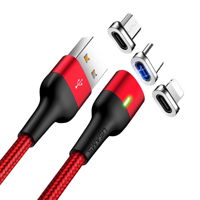 US-SJ325 U28 Aluminum Alloy Magnetic Charging and Data Cable