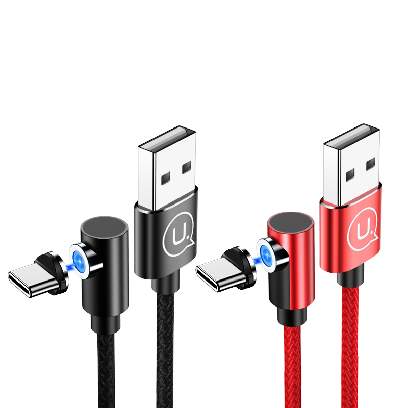 US-SJ445 U54 Right-angle Aluminum Alloy Magnetic Charging Cable Type-C