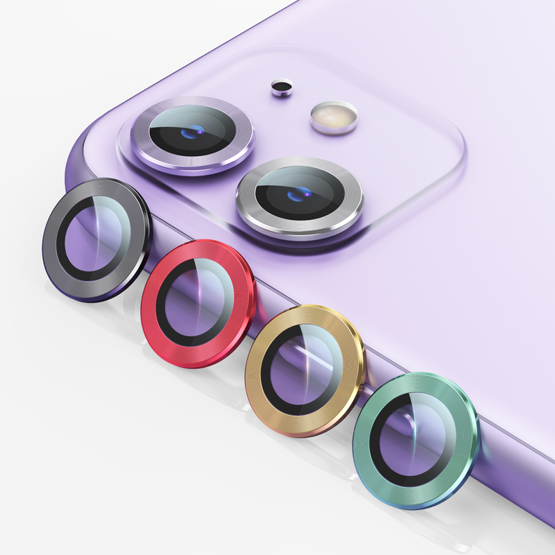 US-BH571/US-BH572/US-BH573 Metal Camera Lens Glass Film for iPhone 11 Series