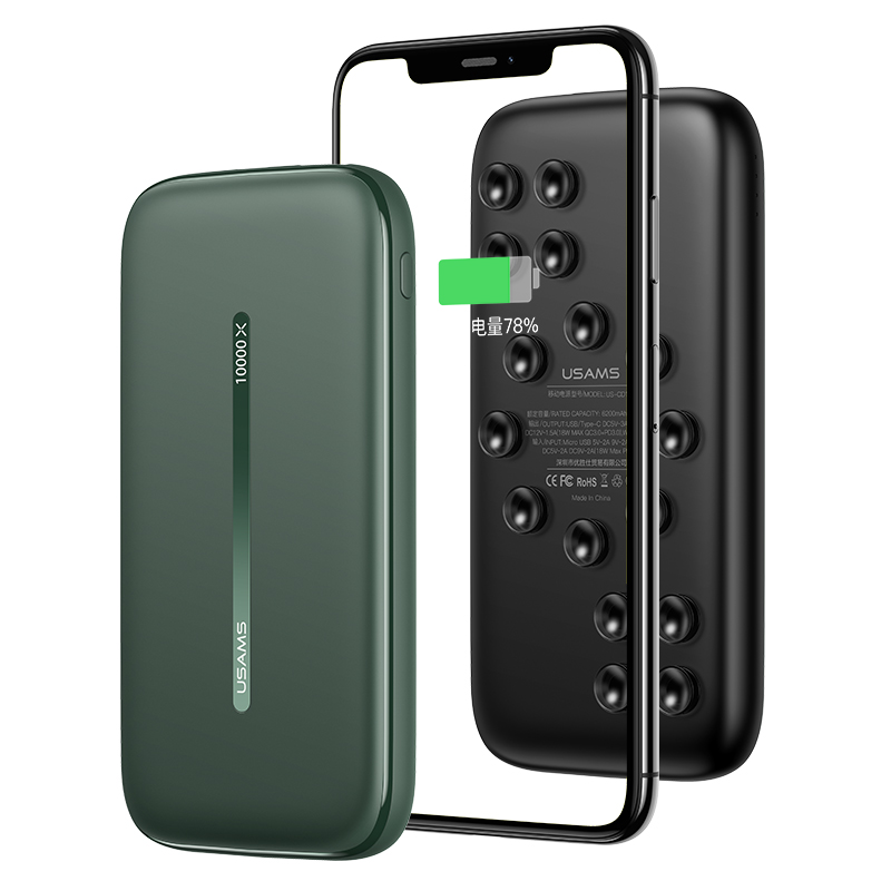 US-CD146 PB53 QC3.0+PD Wireless Fast Charging Power Bank With Suction Cup 10000mAh